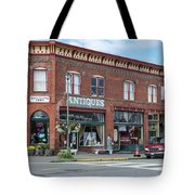 Antiques In Red Brick Tote Bag