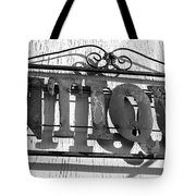 Antiques Store Sign Tote Bag