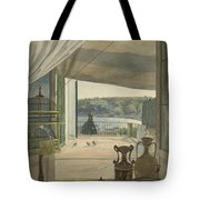 Antiquities By A Balcony Overlooking The Gulf Of Naples Tote Bag