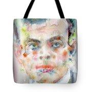 Antoine De Saint-exupery - Watercolor Portrait.2 Tote Bag