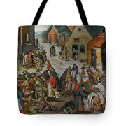 Antwerp The Seven Acts Of Mercy Tote Bag