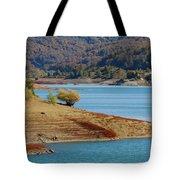 Aoos Lake Shore In Epirus, Greece Tote Bag