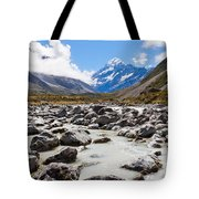 Aoraki Mount Cook Hooker Valley Southern Alps Nz Tote Bag