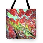 Ap-red And Aqua Tote Bag