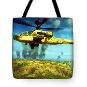 Apache Ai Assault - Operation Desert Wolves Tote Bag