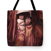 Apache Girl And Papoose Tote Bag