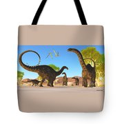 Apatosaurus Forest Tote Bag