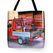Ape Truck In Tuscany Tote Bag