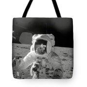 Apollo 12 Moonwalk Tote Bag