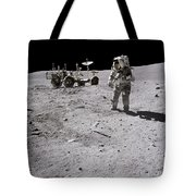 Apollo 16 Astronaut Collects Samples Tote Bag