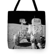 Apollo 16 Astronaut Reaches For Tools Tote Bag