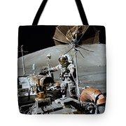 Apollo 17 Astronaut Approaches Tote Bag