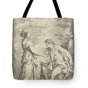Apollo And The Cumaean Sibyl Tote Bag