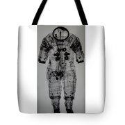 Apollo Space Suit X-ray Tote Bag