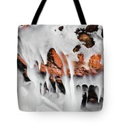 Apostle Islands Icicles Macro Tote Bag