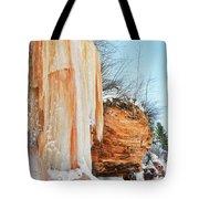 Apostle Islands Waterfall Portrait Tote Bag