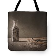 Apothecary Bottle And Clothes Pin Tote Bag