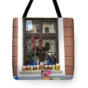 Apothecary Jars On Windowsill  Tote Bag