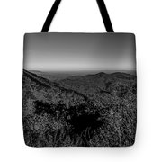 Appalachian Mountains From Mount Mitchell, The Highest Point In  Tote Bag