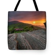 Appalachian Trail Roan Highlands Jane Bald Sunset Landscape Tote Bag