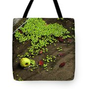Apple And Algae In Dam Overflow Tote Bag