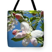 Apple Blossoms Art Prints Blue Sky Spring Baslee Troutman Tote Bag