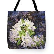 Apple Blossoms At Dusk Tote Bag