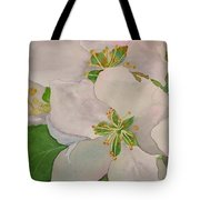 Apple Blossoms Tote Bag by Sharon E Allen