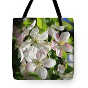 Apple Blossoms Square Tote Bag
