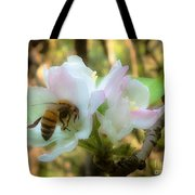 Apple Blossoms With Honey Bee Tote Bag