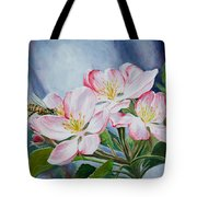 Apple Blossoms With Honeybee Tote Bag