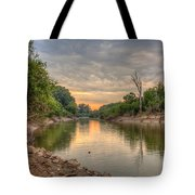 Apple Creek At Dusk Tote Bag