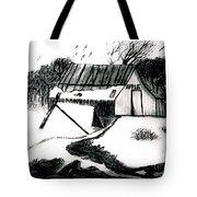 Apple Farm In Winter Tote Bag