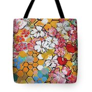 Apple Honeycomb Blossoms 201760 Tote Bag