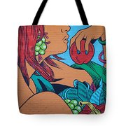 Apple In Hand Tote Bag