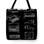 Apple Macintosh Patent 1983 Black Tote Bag