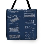 Apple Macintosh Patent 1983 Blue Tote Bag