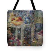 Apple Montage Tote Bag