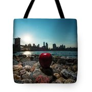 Apple On The Rocks Tote Bag