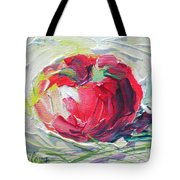 Apple On The Snow Tote Bag