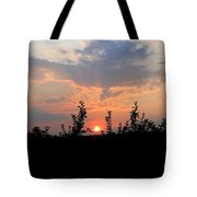 Apple Orchard Silhouette Tote Bag