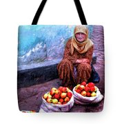Apple Seller Tote Bag