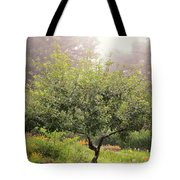 Apple Tree In The Garden Tote Bag