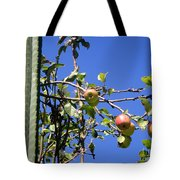 Apple Tree With Apples And Flowers. Amazing Nature Tote Bag