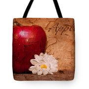 Apple With Daisy Tote Bag