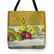 Apples And Biscuits Tote Bag by Paul Cezanne