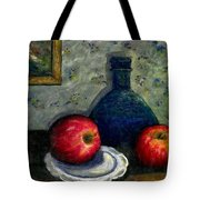 Apples And Bottles Tote Bag