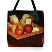 Apples And Bread Tote Bag by Susan Savad