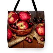 Apples And Cherries Tote Bag