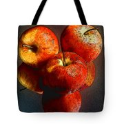 Apples And Mirrors Tote Bag by Paul Wear
